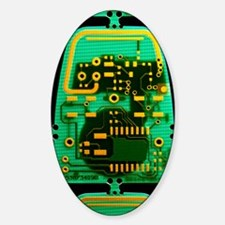 Circuit boards Sticker (Oval)