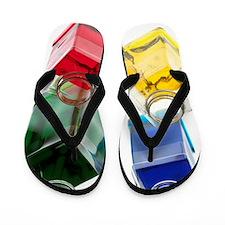 Coloured liquids Flip Flops
