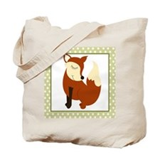 Woodland Fox with Border Tote Bag