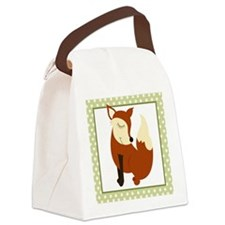 Woodland Fox with Border Canvas Lunch Bag