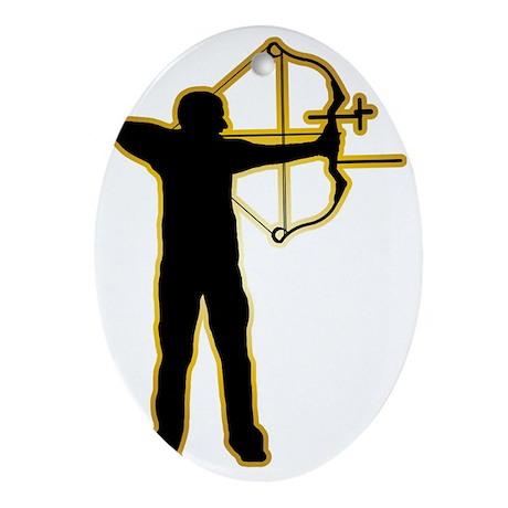 Archery-AD Oval Ornament