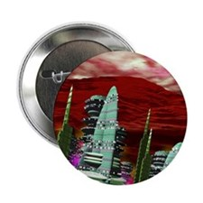"""Computer artwork of a city on Mars 2.25"""" Button"""