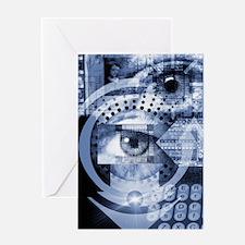 Computer surveillance Greeting Card
