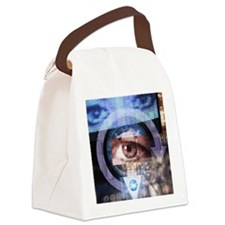 Computer surveillance Canvas Lunch Bag