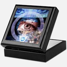 Computer surveillance Keepsake Box