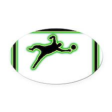 Goalkeeper-AC Oval Car Magnet