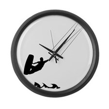 Kitesurfing-AA Large Wall Clock