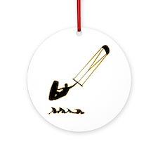 Kitesurfing-AD Round Ornament