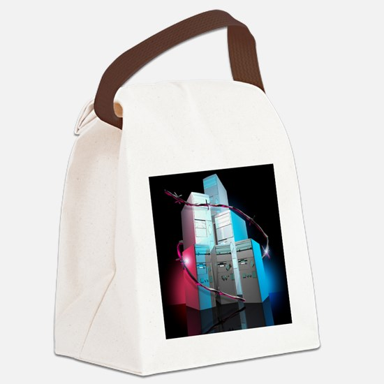 Computer security Canvas Lunch Bag