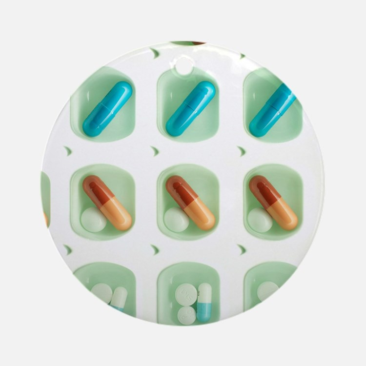 Pill organiser Round Ornament