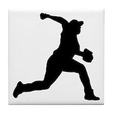 Baseball-Pitcher-AA Tile Coaster