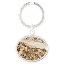 globetheatre1-men Oval Keychain