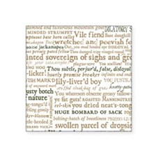 "Shakespeare Insults Square Sticker 3"" x 3"""