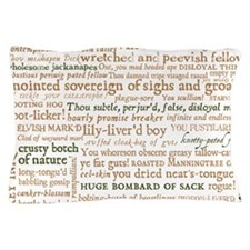 Shakespeare Insults Pillow Case