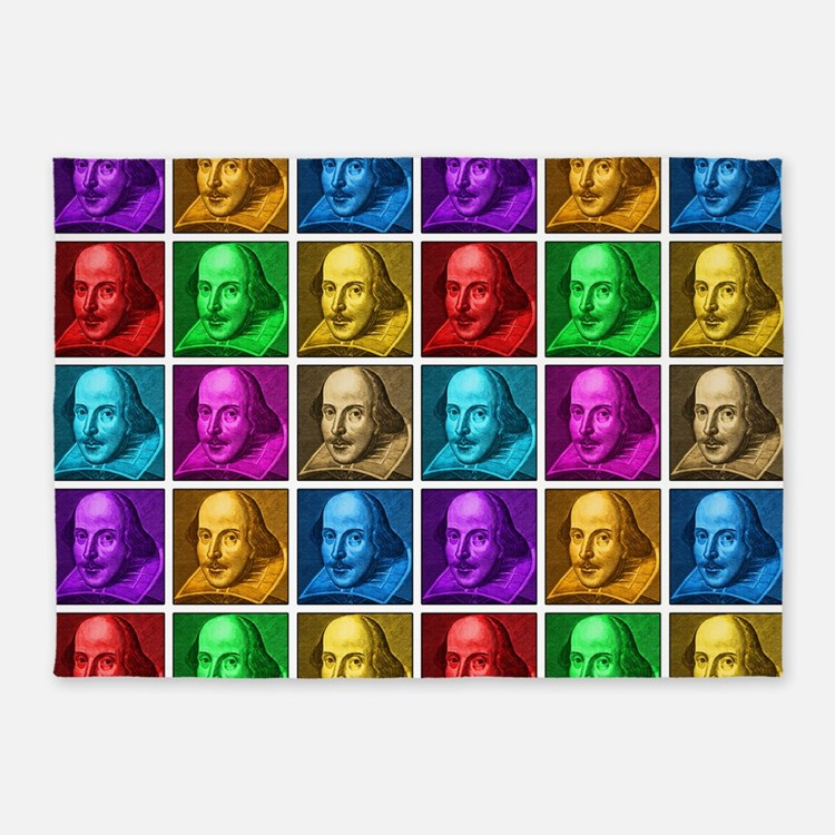 Pop Art Shakespeare 5'x7'Area Rug