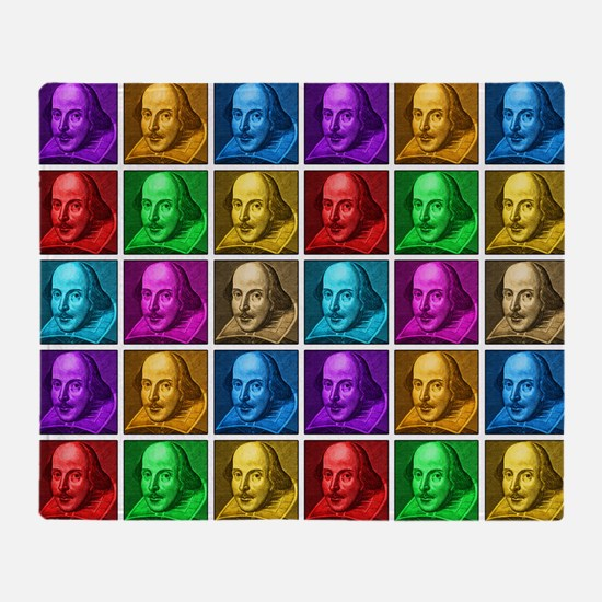 Pop Art Shakespeare Throw Blanket