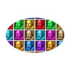 Pop Art Shakespeare Oval Car Magnet