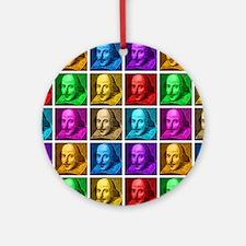 Pop Art Shakespeare Round Ornament