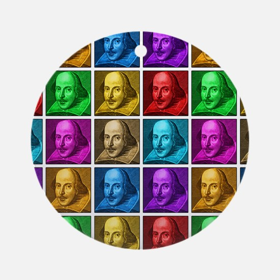Pop Art Shakespeare Round Ornament