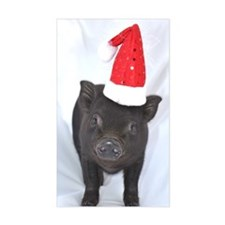 Micro pig with Santa hat Decal