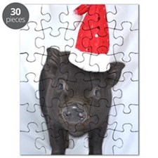 Micro pig with Santa hat Puzzle