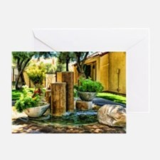 stone fountains Greeting Card