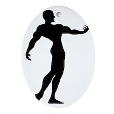 Bodybuilder-AA Oval Ornament