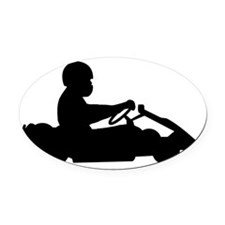 Go-Karting-AA Oval Car Magnet