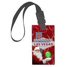 Las Vegas Santa with ornament Luggage Tag