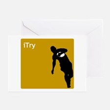iTry Rugby Union Team Shirt Greeting Cards (Packag