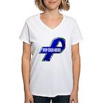 Child Abuse Awareness Ribbon Women's V-Neck T-Shir