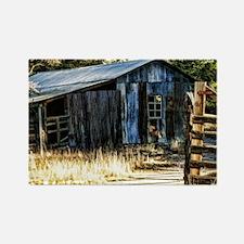 corugated tin barn Rectangle Magnet
