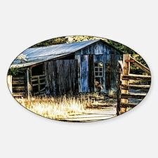 corugated tin barn Decal