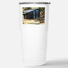 corugated tin barn Travel Mug