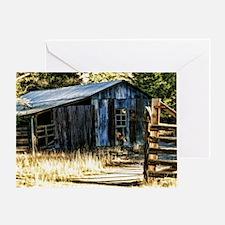 corugated tin barn Greeting Card