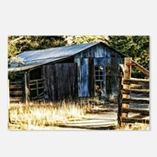 corugated tin barn Postcards (Package of 8)