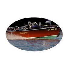 D1259-061boatart Oval Car Magnet