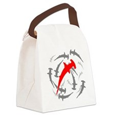 Circling Hammerhead Sharks Canvas Lunch Bag