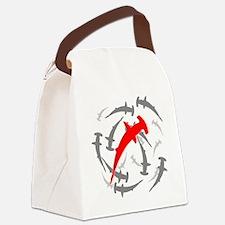 Circling Hammerhead Sharks Canvas Lunch Bag