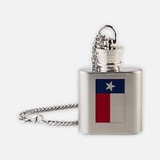 Texas Flag - TX Flask Necklace