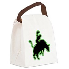 Bull-Riding-AC Canvas Lunch Bag