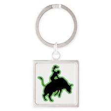 Bull-Riding-AC Square Keychain