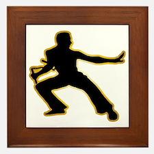 Kung-Fu---Nunchaku-AD Framed Tile