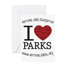ornament i heart parks Greeting Card