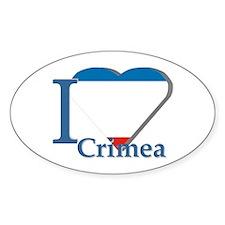 I love Crimea Oval Decal