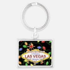 Las Vegas Christmas Lights Landscape Keychain