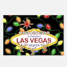 Las Vegas Christmas Light Postcards (Package of 8)