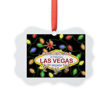 Las Vegas Christmas Lights Picture Ornament