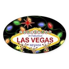 Las Vegas Christmas Lights Decal