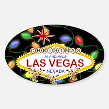 Las Vegas Christmas Lights Sticker (Oval)